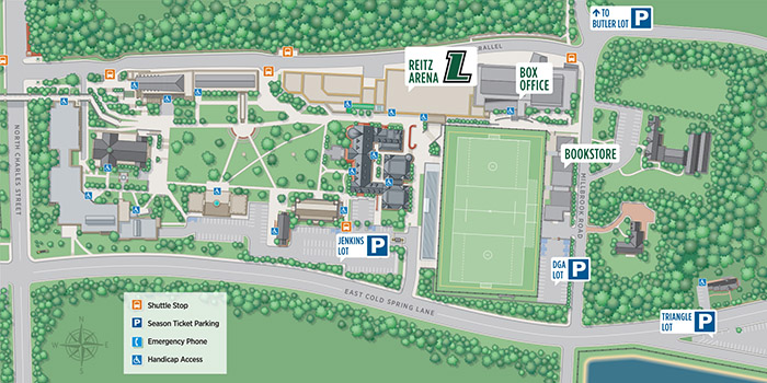 Under Armour Campus Map.Loyola Basketball Parking Information Loyola University Maryland